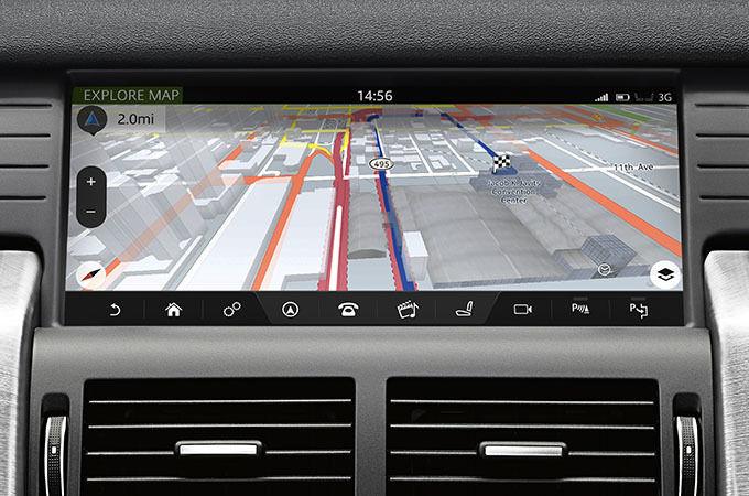 Nawigacja systemu InControl Touch Pro
